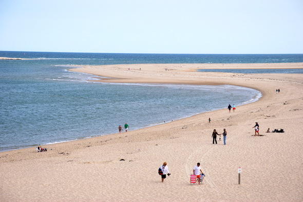 A summer day at the beach in Chatham, MA in Cape Cod