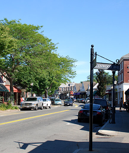 Downtown Falmouth, Massachussets in Cape Cod