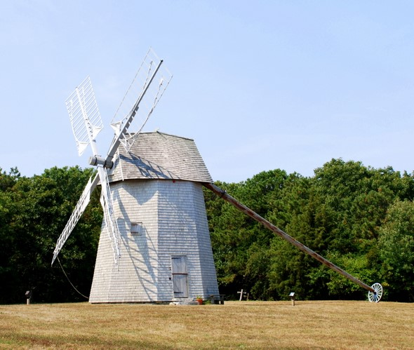 The Higgins Farm Windmill in Brewster, Massachusets