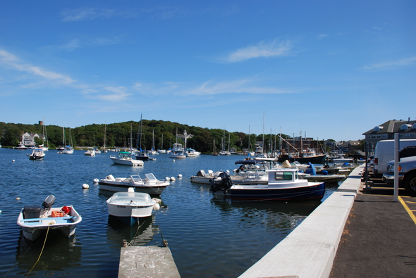 The pier at Woods Hole in Cape Cod