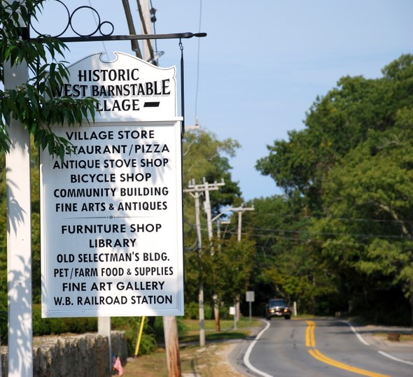 The Old King's Highway in West Barnstable, Massachussets