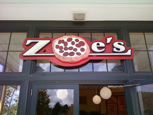 Zoe's Pizza in Mashpee, Massachusetts