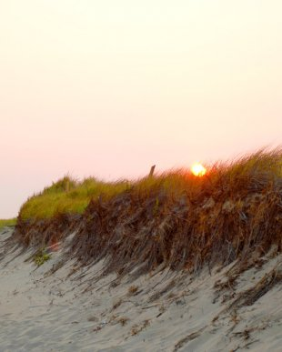 Sunset on a Cape Cod beach