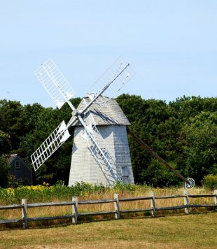 The Higgins Farm Windmill-The Higgins Farm Windmill in Brewster, MA in Cape Cod (medium sized photo)