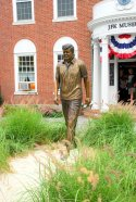 JFK Museum-Statue of John F Kennedy at the JFK Museum in Hyannis, Massachussets (thumbnail)